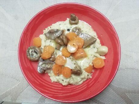 RECIPE MAIN IMAGE Risotto aux carottes et aux champignons