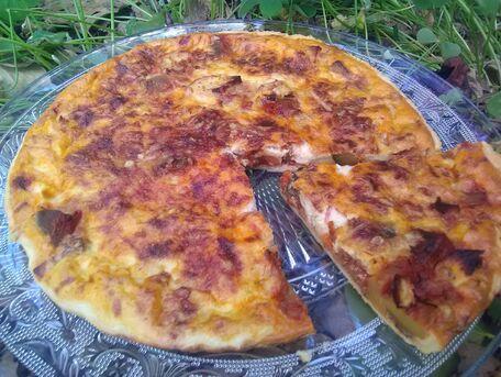 RECIPE MAIN IMAGE Tarte lardons et ratatouille
