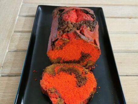 RECIPE MAIN IMAGE Cake marbré coloré