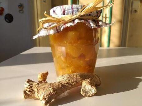RECIPE MAIN IMAGE Courgette au sirop de gingembre