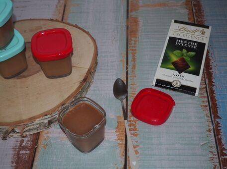 RECIPE MAIN IMAGE  Crèmes dessert allégées chocolat menthe à la multidélices