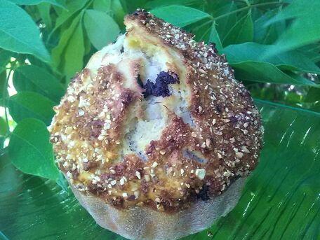 RECIPE MAIN IMAGE Muffins pépites de chocolat noir et pralin