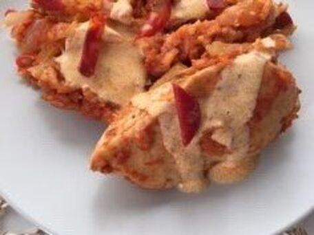 RECIPE MAIN IMAGE Poulet poivrons et chorizo