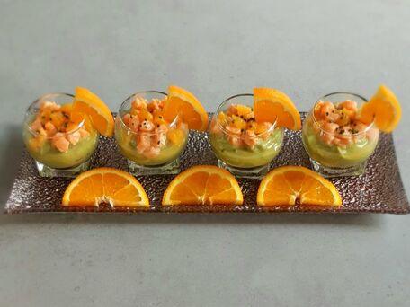 RECIPE MAIN IMAGE Verrines guacamole à la truite