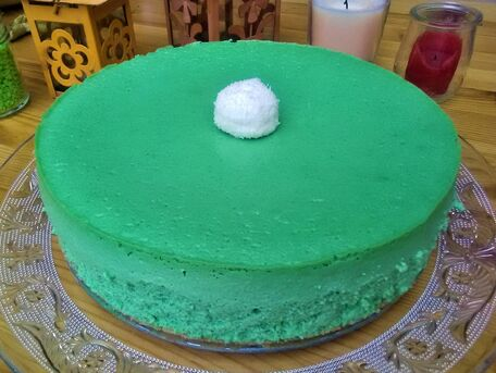 RECIPE MAIN IMAGE Cheesecake à la pistache et spéculos