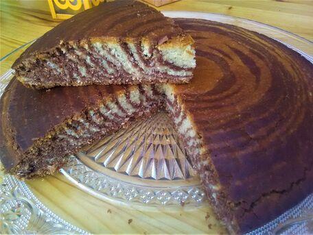 RECIPE MAIN IMAGE Gâteau zèbre vanille et Nutella