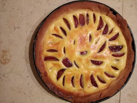 RECIPE MAIN IMAGE Tarte Amandine vegan & bio aux prunes rouges