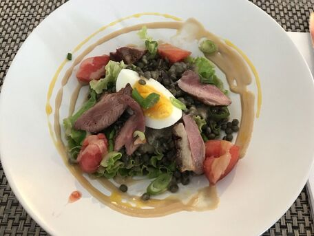 RECIPE MAIN IMAGE Salade de lentilles vertes au magret de canard