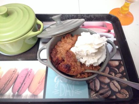 RECIPE MAIN IMAGE Crumble poire-coing