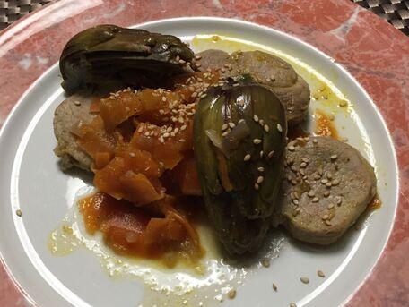 RECIPE MAIN IMAGE Filet mignon aux tagliatelles de carottes et artichauts violets de Provence