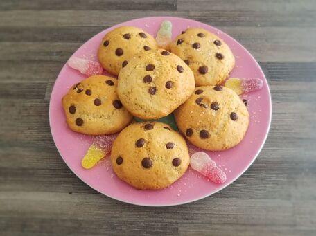 RECIPE MAIN IMAGE Biscuits express à la poudre d'amandes et aux pépites de chocolat