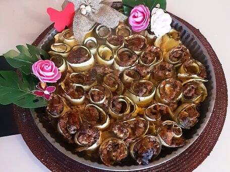 RECIPE MAIN IMAGE Bouquet de courgettes farcies