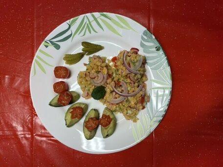 RECIPE MAIN IMAGE Salade de lentilles corail