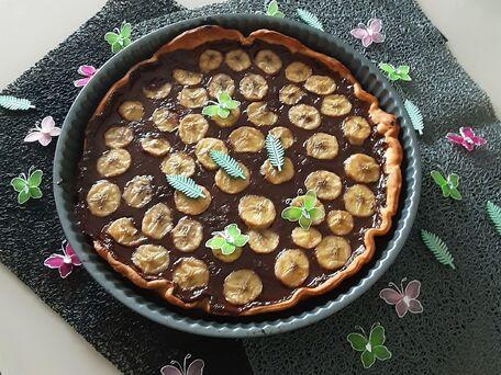 RECIPE MAIN IMAGE Pizza chocolat banane