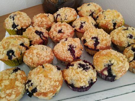RECIPE MAIN IMAGE Muffins aux myrtilles comme chez une grande enseigne de coffee shop