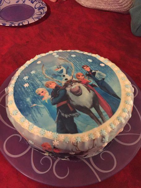 RECIPE MAIN IMAGE Gateau d'anniversaire La reine des neiges
