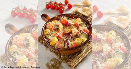 RECIPE MAIN IMAGETestez notre produit et cuisinez un délicieux Gratin de légumes estival