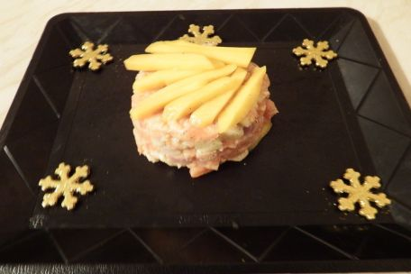 RECIPE MAIN IMAGE Tartare de saumon à la mangue