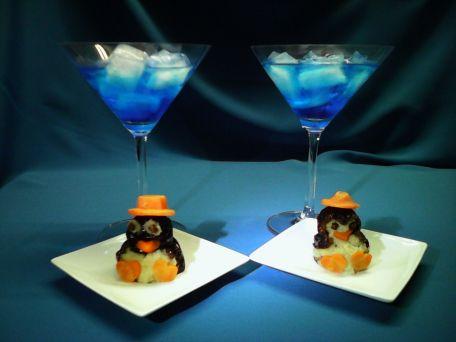 RECIPE MAIN IMAGE Pingouins de pruneaux fourrés de chèvre amande et miel