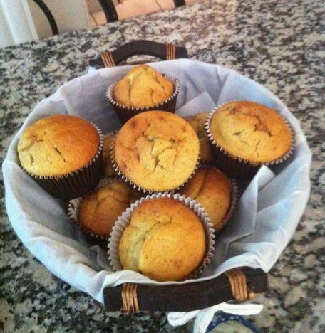 RECIPE MAIN IMAGE Muffins à la banane, cœur au nutella