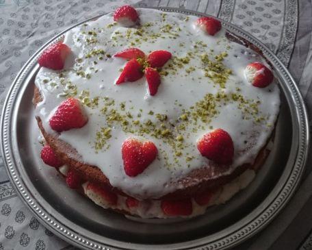 RECIPE MAIN IMAGE Le gâteau aux fraises