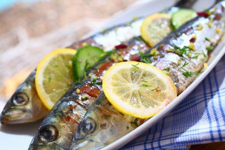 RECIPE MAIN IMAGE Méli-mélo de sardines fraîches et aubergine confite au gingembre