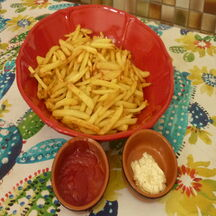 Frites maison avec pommes de terre