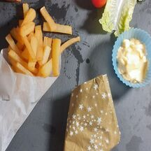 Des frites onctueuses
