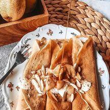 Crêpes poire caramélisée