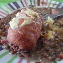 Lentilles avec saucisse de morteau