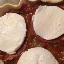 Tarte ratatouille (chorizo) mozzarella