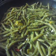 Haricots verts aux poivrons