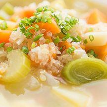 Soupe de légumes au quinoa