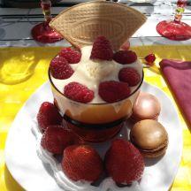 Coupe de Crème Anglaise rafraichissante aux fruits