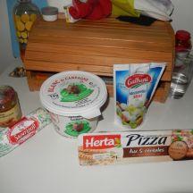 Pizza couronne chèvre miel