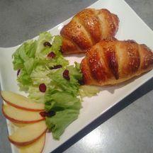 Croissants savoyards raclette bacon
