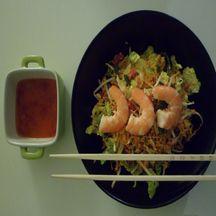 Salade vietnamienne aux crevettes