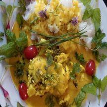 Filet de limande au curcuma et huiles essentielles