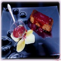 Gâteau Melon - poire