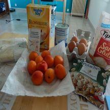 Clafoutis aux abricots et pistaches