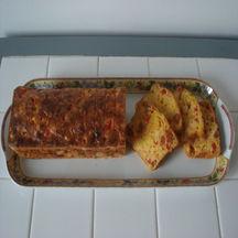 Cake au chorizo maïs & cheddar