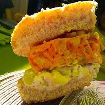 Burger végétarien légumes et ricotta