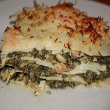 Lasagnes saumon, épinards