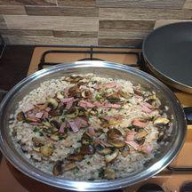 Risotto bacon et champignon