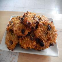 Bouchées moelleuses à la carotte et raisins secs