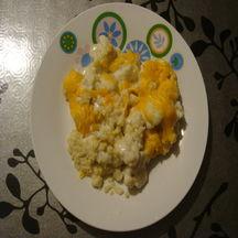 Gratin de chou-fleur et boulgour à la mimolette