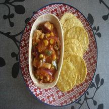 Panadillas au poulet &  crunchy nachips