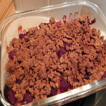 Crumble poire-pomme-framboise-spéculoos