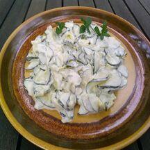 Concombre au yaourt et à la menthe