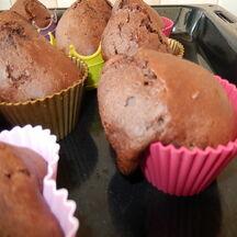 Muffins au cacao et pépites